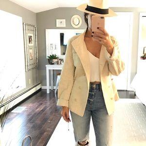 Lou & Grey cream super soft synch waist jacket Med